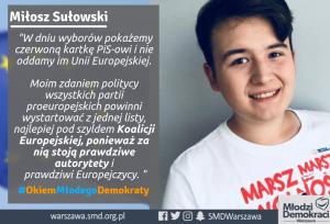 Miłosz Sułowski o nadchodzących wyborach europejskich