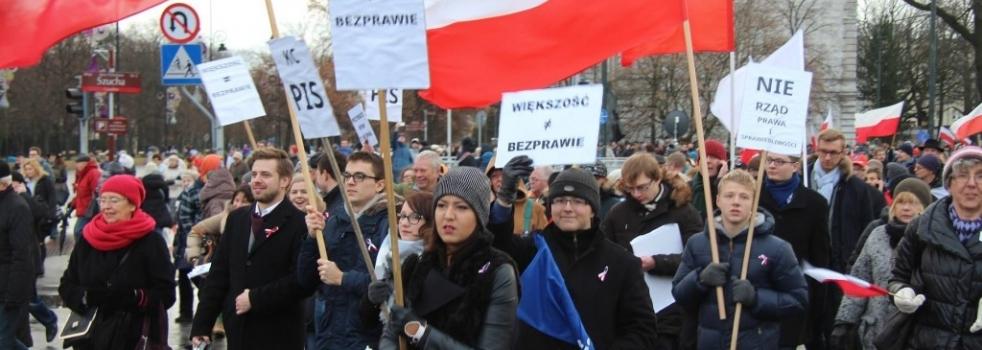 """Demonstracja """"Obywatele dla demokracji"""""""