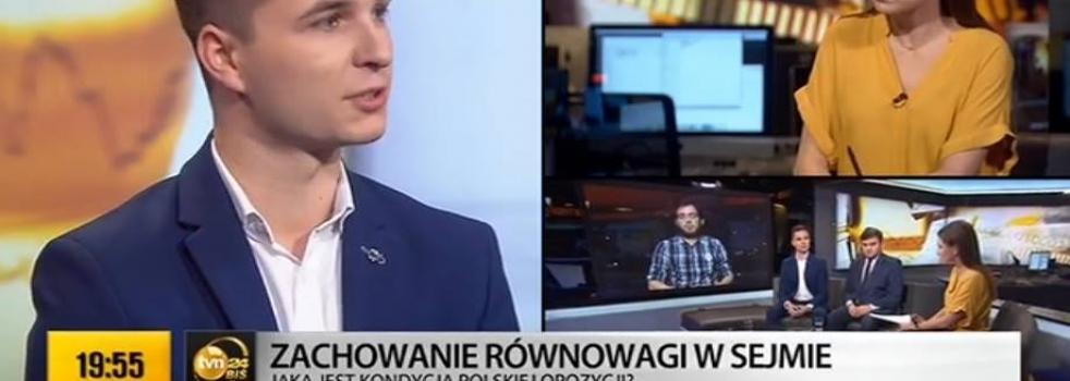 Młodzi Demokraci w TVN24 BiŚ